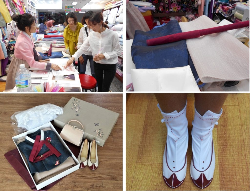 Choosing my colours and shopping for my Korean wedding hanbok and shoes and  accessories