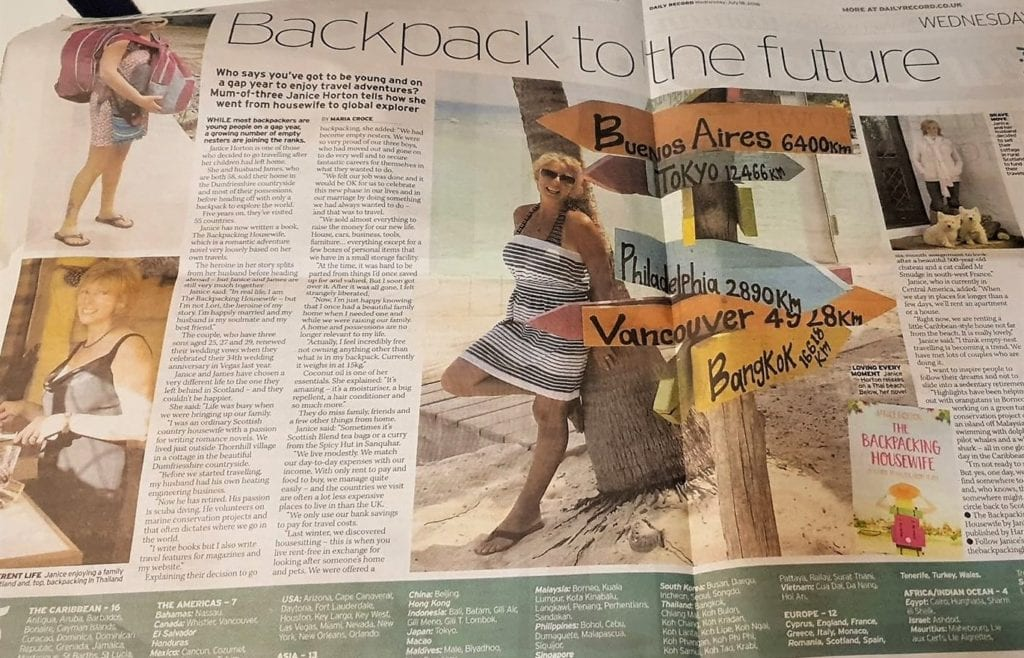 Janice Horton The Backpacking Housewife The Daily Record
