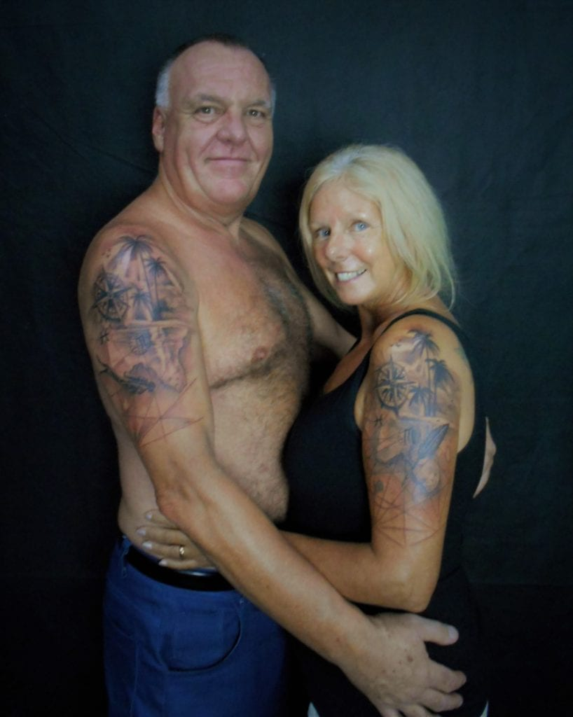 The Backpacking Wife and Backpacking Husband travel tattoos