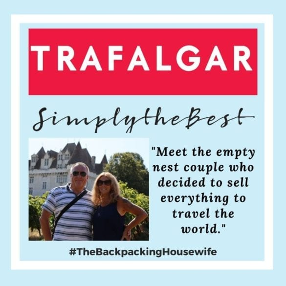 TRAFALGAR TRAVEL THE BACKPACKING HOUSEWIFE