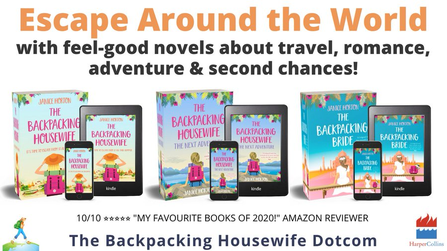The Backpacking Housewife Series of Books by Janice Horton published by HarperCollins