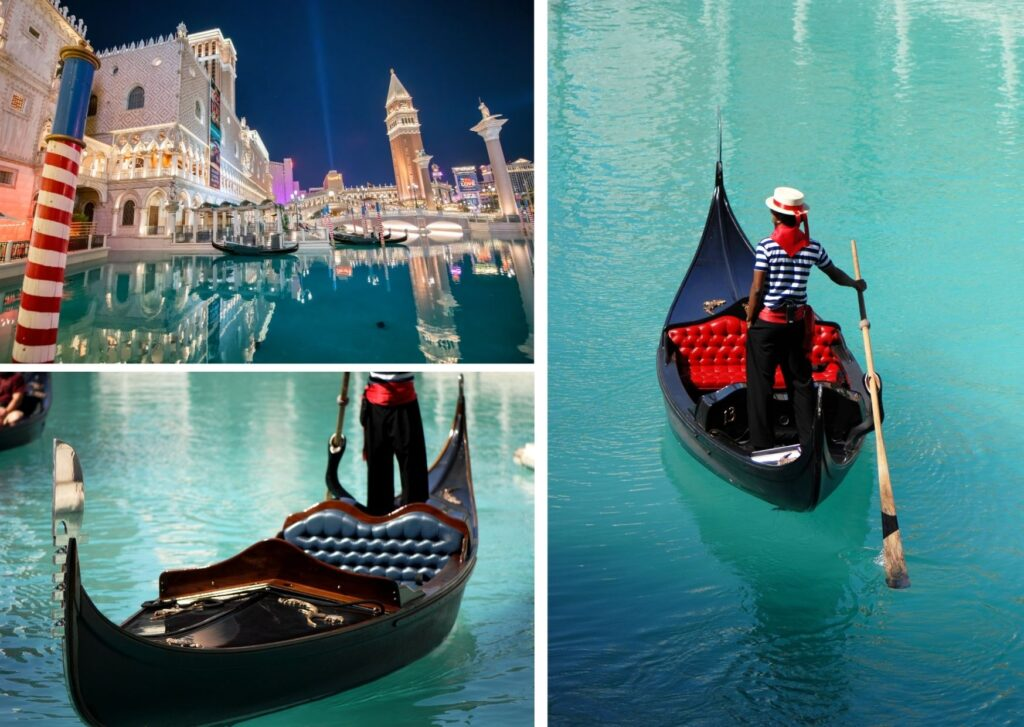 Be serenaded by a singing Gondolier on The Grand Canal at the Venetian Resort
