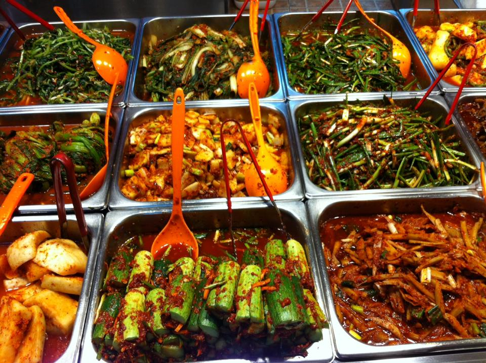 I took this photo of various kimchi at the traditional market in Daegu South Korea. The Backpacking Housewife