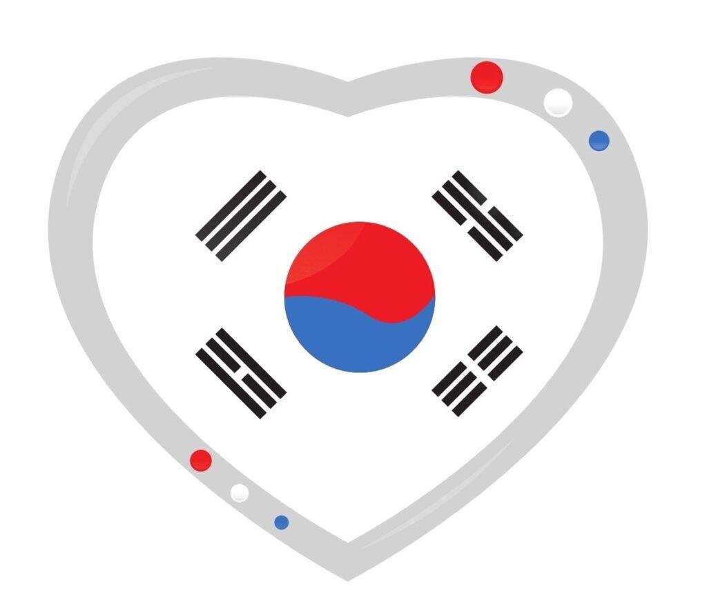 Korean Flag Heart Yin Yang