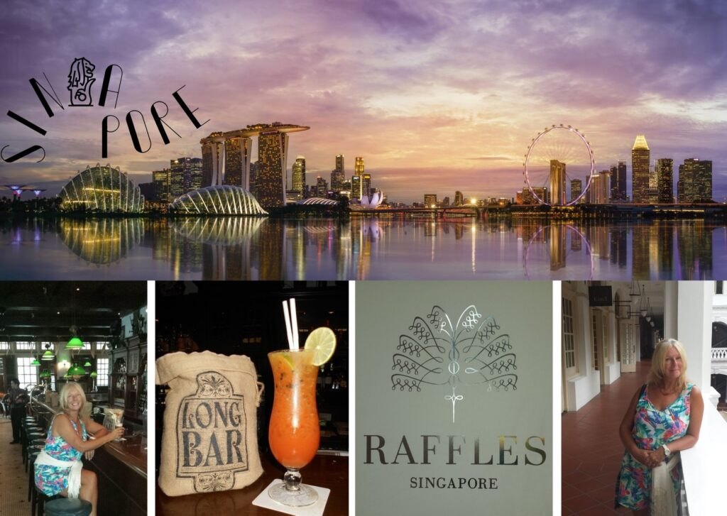 Exploring Singapore and having a Singapore Sling in the Long Bar at Raffles