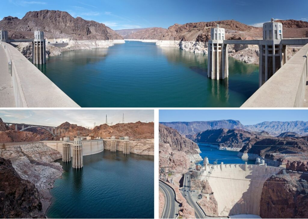 The Hoover Dam is a popular stop off on the way to The Grand Canyon