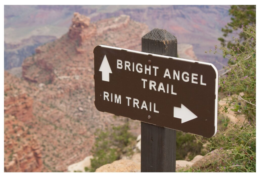 The Rim Trail Hike Sign