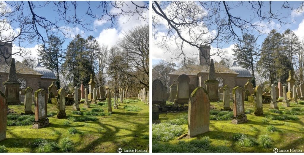 The Church at Durisdeer graveyard and the Queensberry Burial Vault