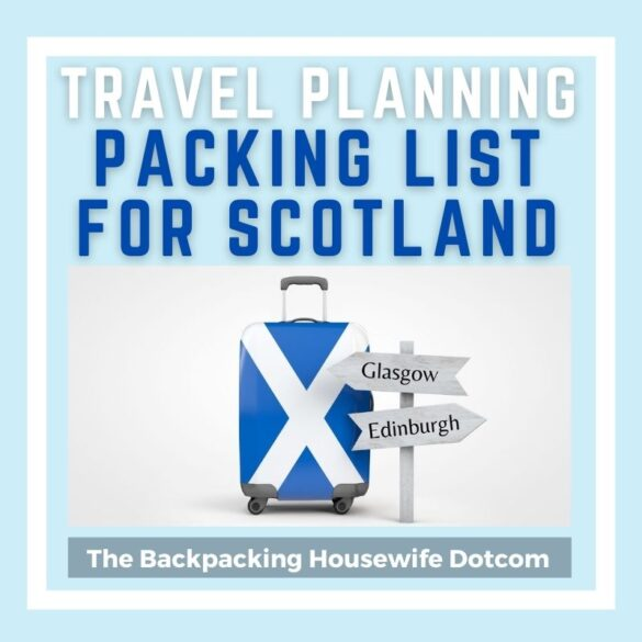PACKING LIST FOR SCOTLAND