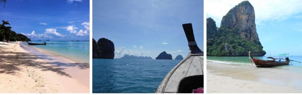 Travelling by longtail boat along the Andaman Sea. Photos: Janice Horton