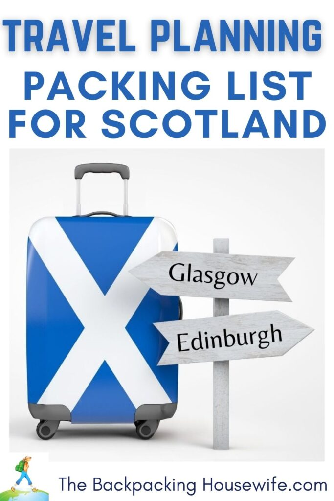 Packing List for Scotland Backpacking Housewife