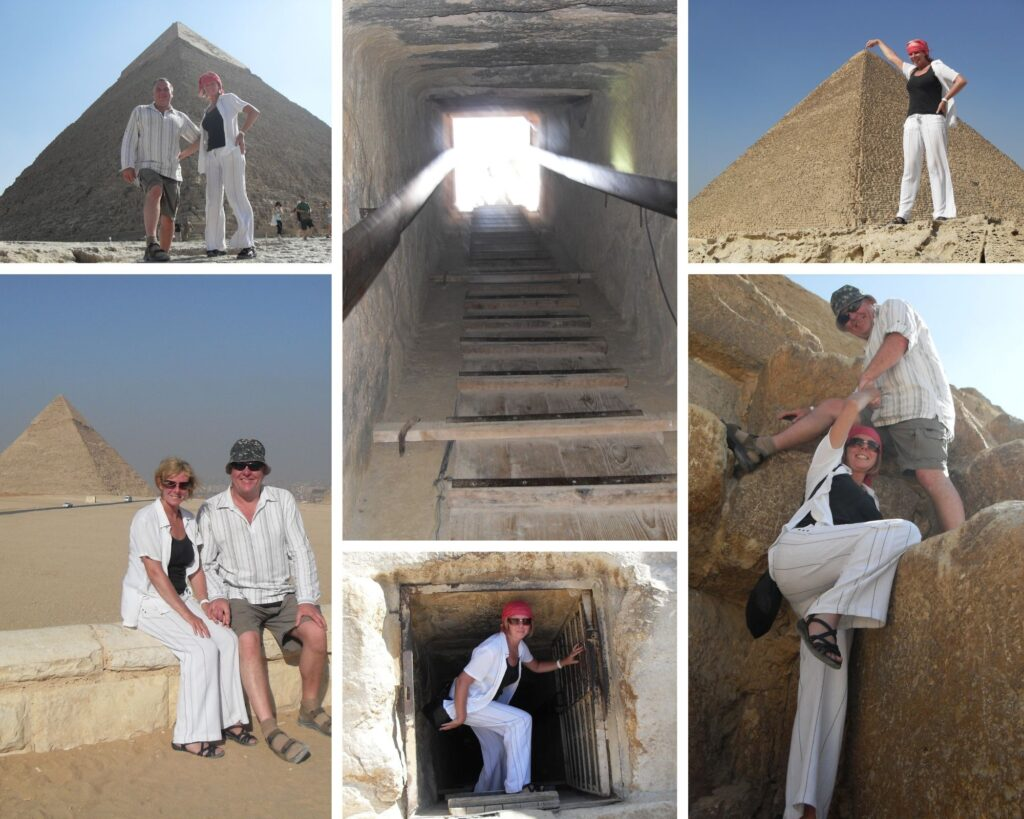 The Backpacking Housewife Janice Horton at The Pyramids at Giza