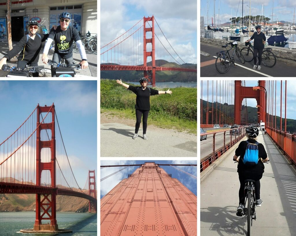 Cycling over the Golden Gate Bridge San Francisco The Backpacking Housewife