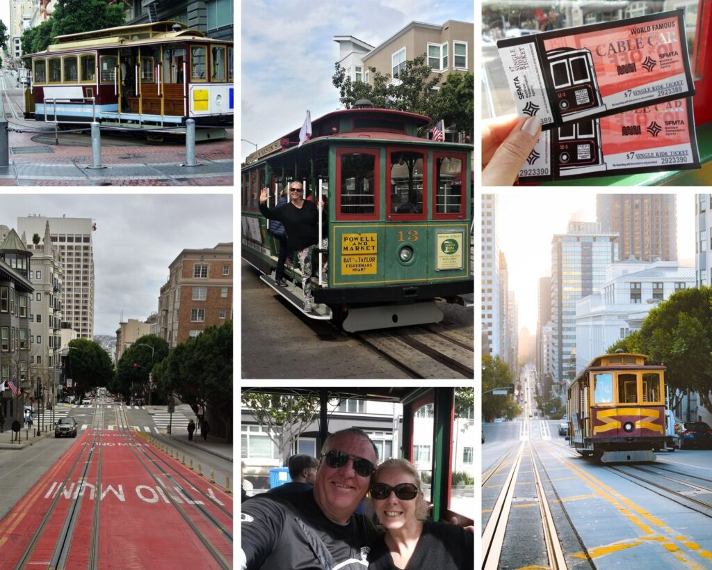 Riding the steep streets on the cable cars in San Francisco The Backpacking Housewife